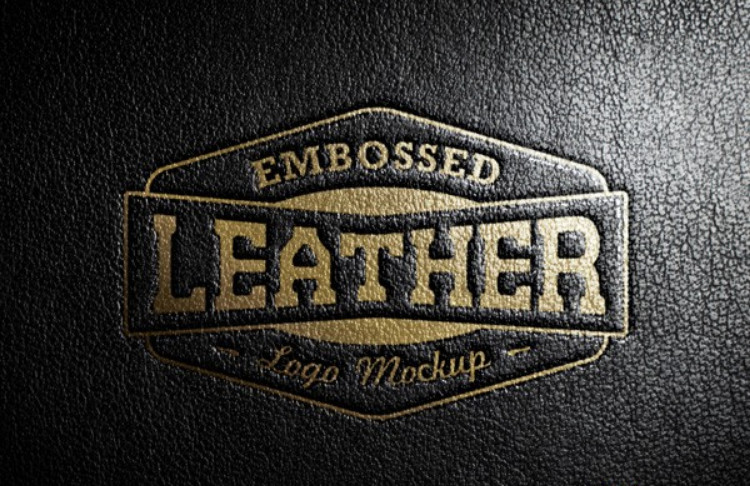 Logo leather format .PSD for Photoshop