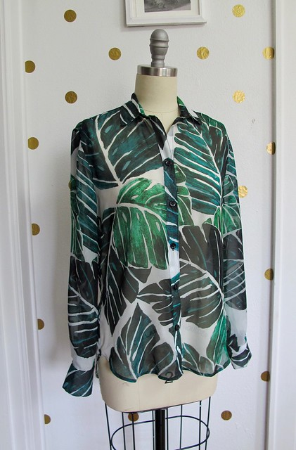 Polyester Chiffon Archer Shirt / Sprout Patterns