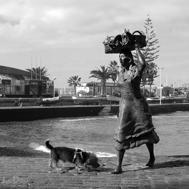 fisherwoman (and friend)   puerto de la cruz   tenerife