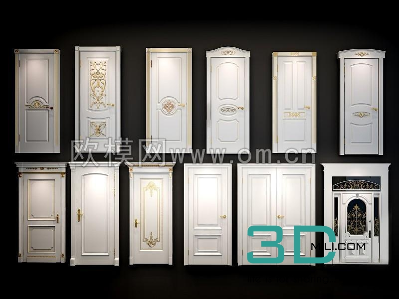 63  Door 3D model - 3D Mili - Download 3D Model - Free 3D