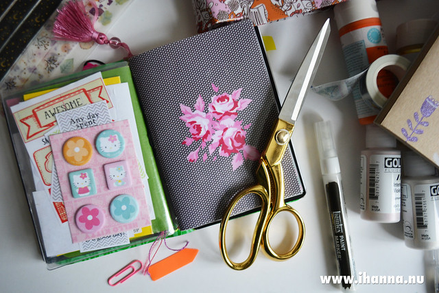 Pocket sized TN by iHanna with kawaii stuff in #travelersnotebook