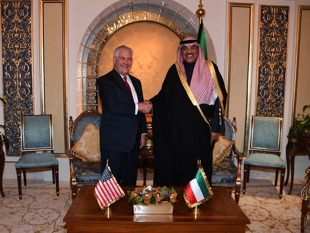 Secretary Tillerson Meets Kuwaiti Foreign Minister Sabah al-Khalid al-Sabah
