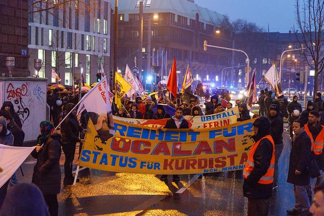 Demo gegen die Besatzung von Efrin