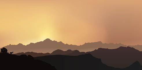 Paysage Mont Blanc - Alpes