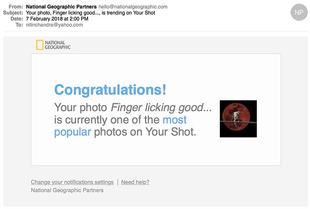 Your photo Finger licking good is trending on Your Shot