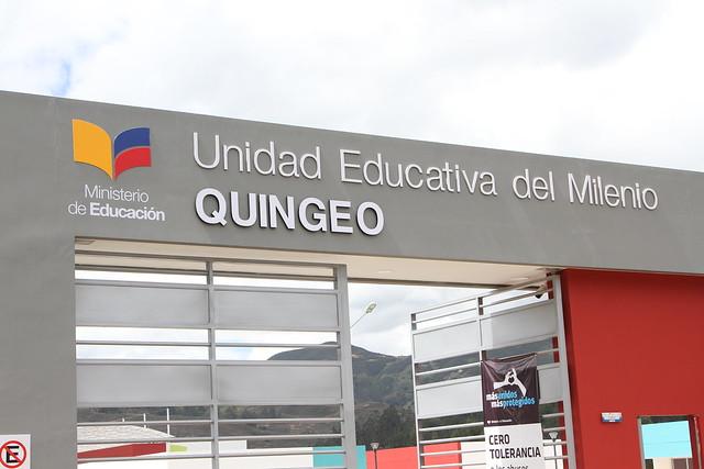 Inauguración Unidad Educativa del Milenio Quingeo