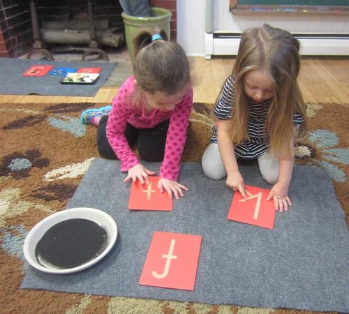 letter formation work