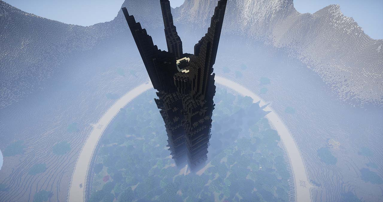 Minecraft Middle Earth By @mcmiddleearth: Isengard - Saruman's Large Fortress