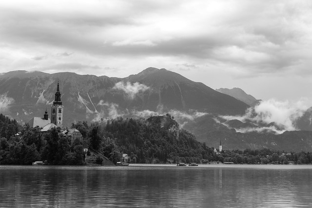 Lake Bled in the Mists
