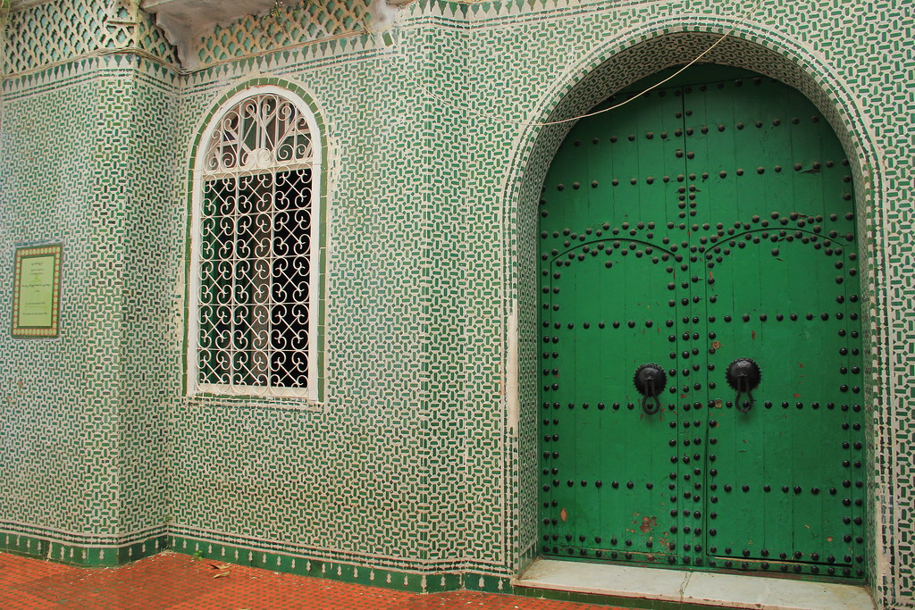 A Muslim-green painted door, Chefchaouen
