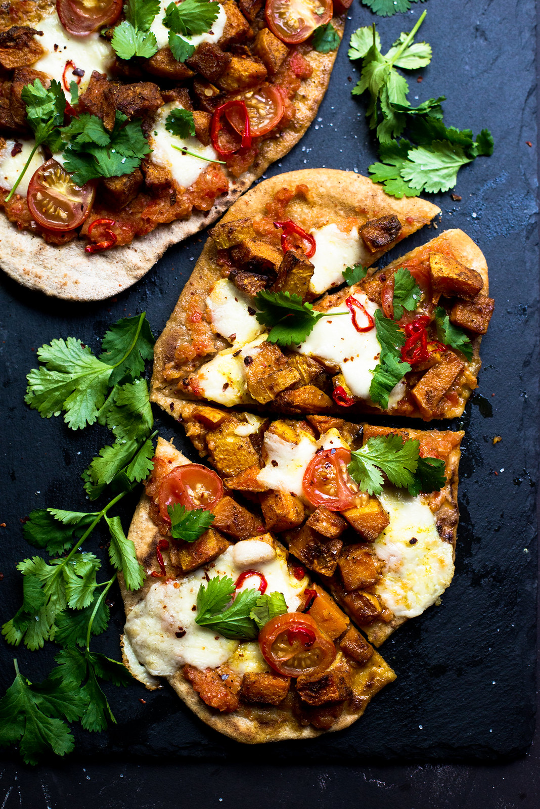 Indian Spiced Butternut Squash Naan Pizza #vegetarian #naanpizza #butternutsquash
