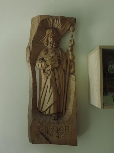 20140808 06 360 Jakobus Bernardville Baumgarten Kloster Santiago Statue