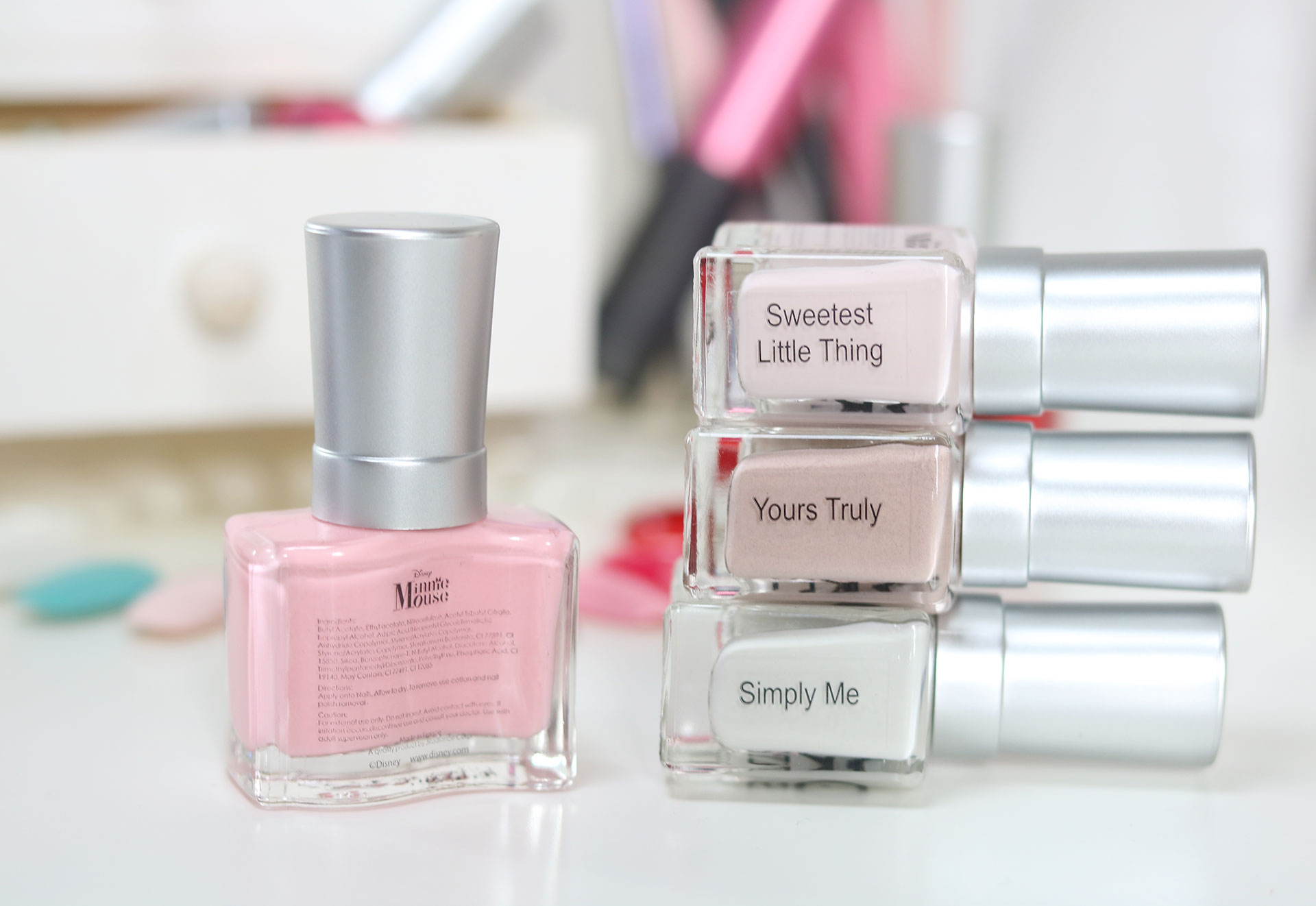 5 Girlstuff Minnie Mouse Nail Lacquers Collection Review Swatches Photos - Gen-zel She Sings Beauty