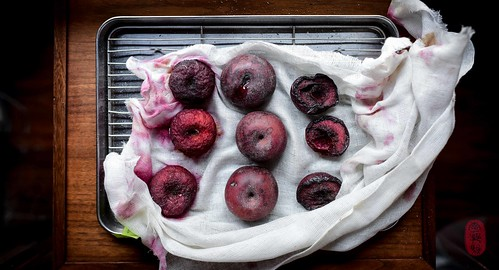 Plums off the hearth.