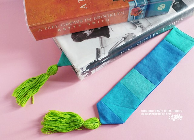 Green and blue bookmarks