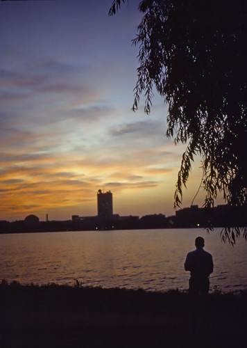 View Of MIT Across Charles River - Kodachrome - 1987