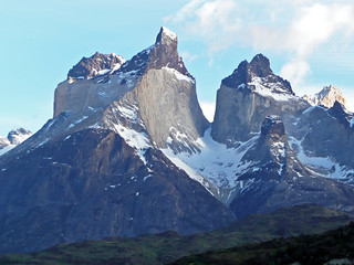 Cretaceous sedimentary rocks intruded by a Miocene granite laccolith (Cuernos del Paine, Torres del Paine National Park, Andes Mountains, Chile) 2