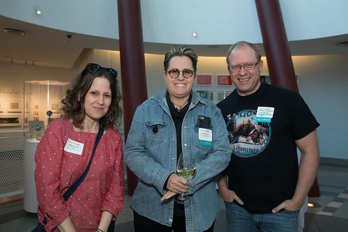 L to R- Maija Burnett, Kathleen Bailey '80 and Randy Haycock '90
