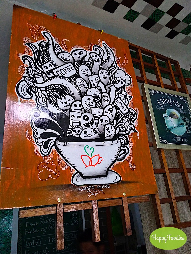 One of the artworks on display at the cafe