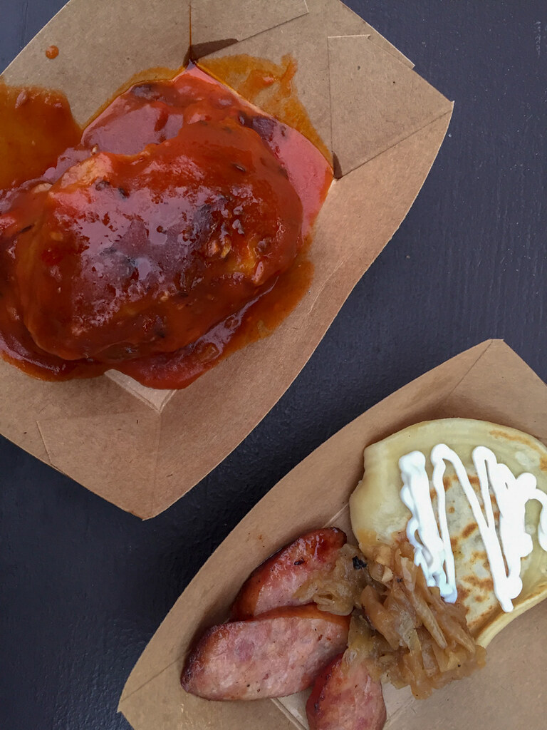 Stuffed Cabbage and Pierogies at EPCOT Food and Wine Festival