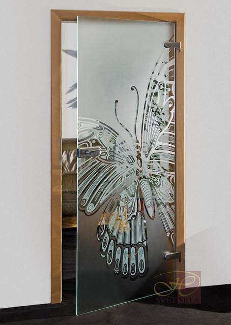papilio skleněné dveře