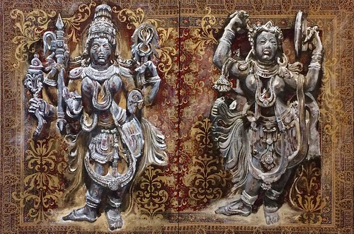 Hayes_Dancing Shiva and Devi.60x80%22.Hayes_