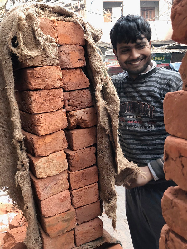 City Life - Labourers' Load, Central Delhi