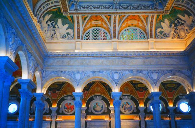 Library of Congress ~ Grand Lobby Ceiling ~ Washington DC.