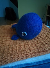 Whale and baby blanket