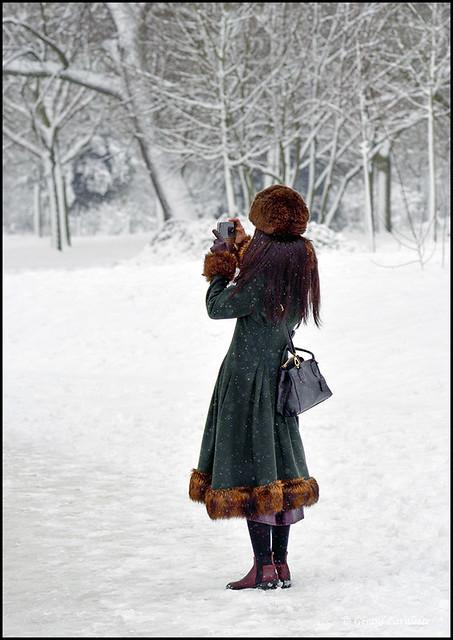 Elègante sous la neige.