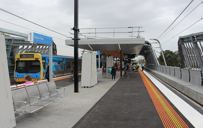 Platform at new Noble Park station