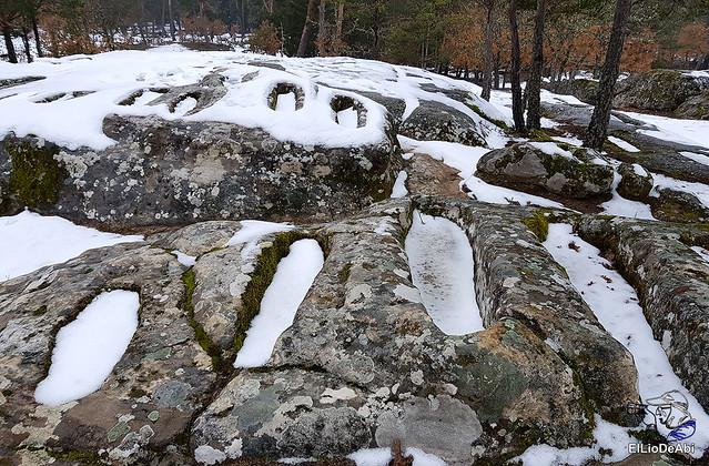 Necrópolis de Revenga y La Cerca con nieve 1