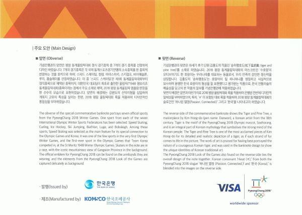 2000 Won Južná Kórea 2017 v obale, P58
