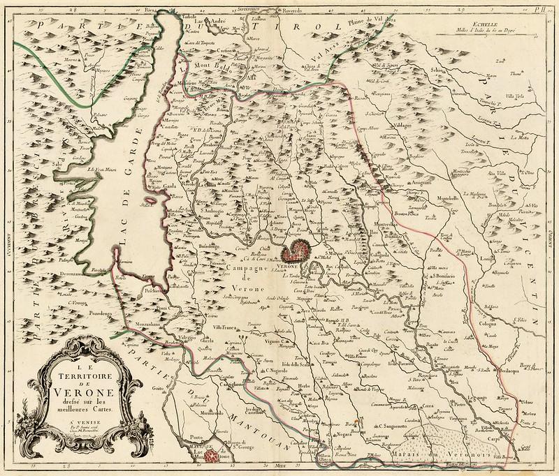 Paolo Santini - Le Territoire de Verone dressee sur les meillures Cartes (1776)