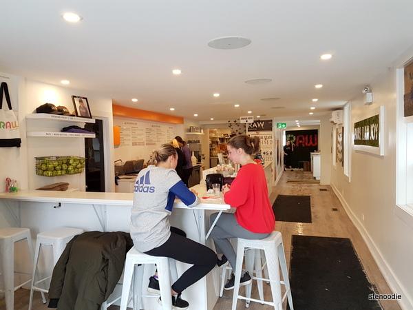 RAW Pulp + Grind Ottawa interior