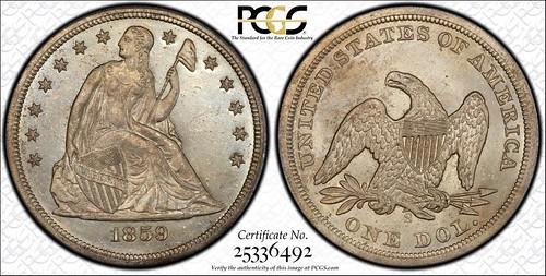 1859-S Dollar