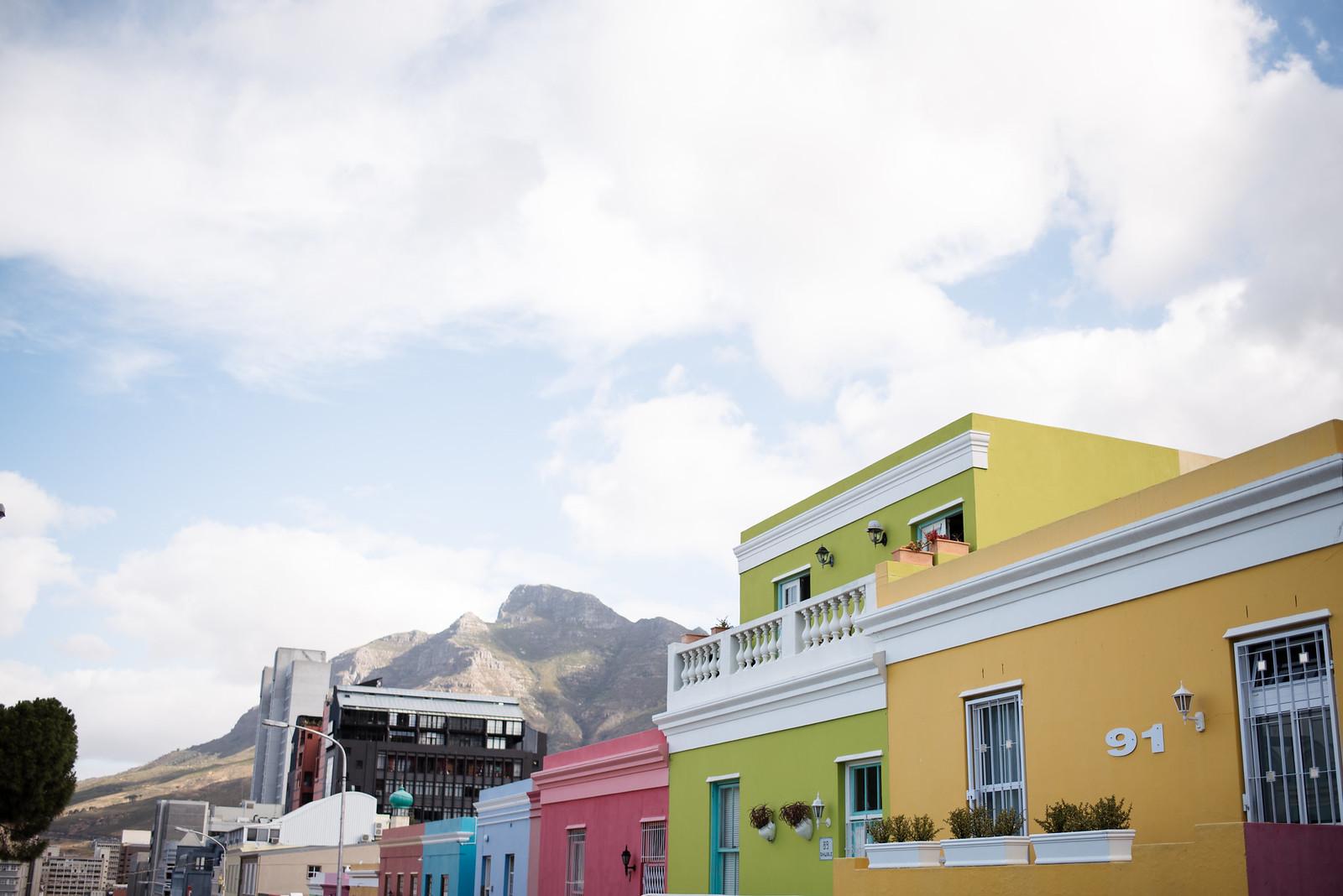 Colorful houses in Bo-Kaap Cape Town on juliettelaura.blogspot.com