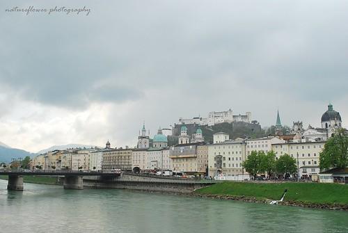 Salzburg in rainy day.