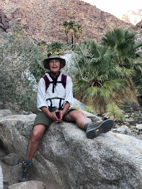 Borrego Springs - Linda on the rocks