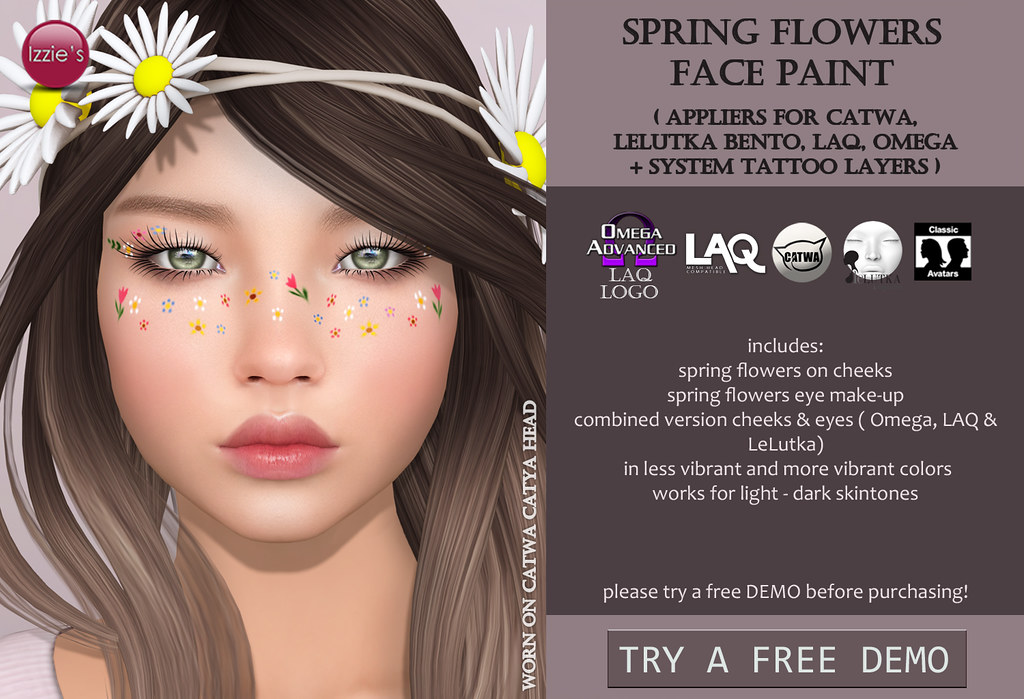 Spring Flowers Face Paint (@ TLC)