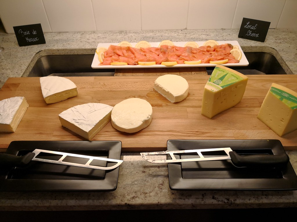Cheese and smoked salmon