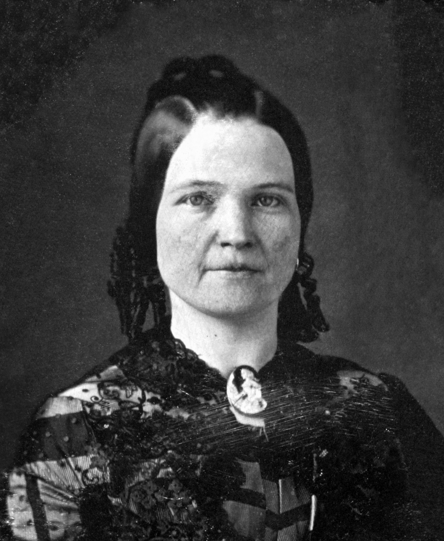 Mary Todd Lincoln in a photograph taken circa 1846-1847 at the age of 28.