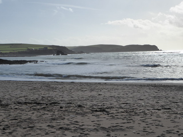 Looking towards Thurelstone Rock and Bolt Tail from Leas Foot Sands