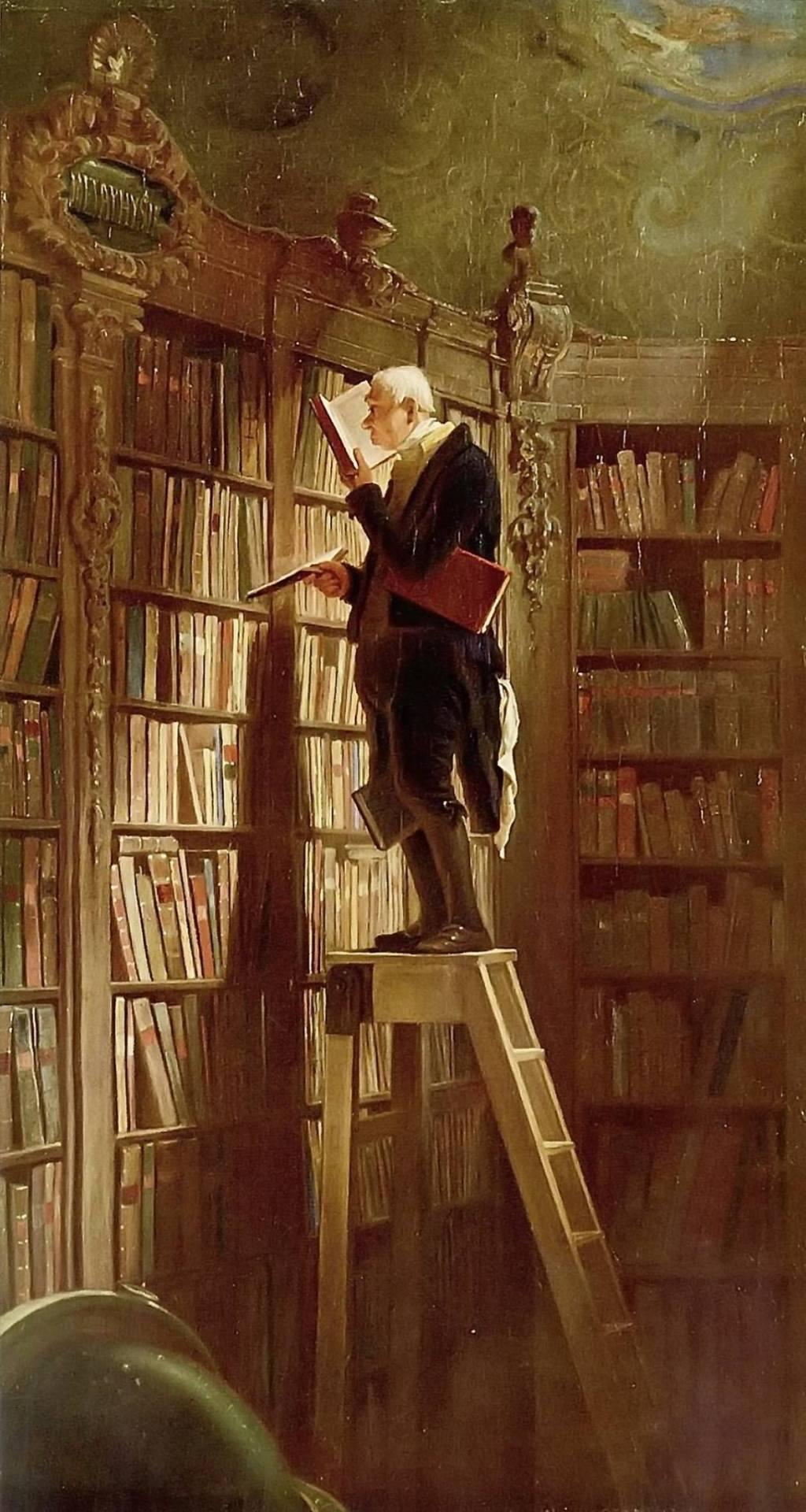 Carl Spitzweg (1808-1885) The Bookworm, 1850.
