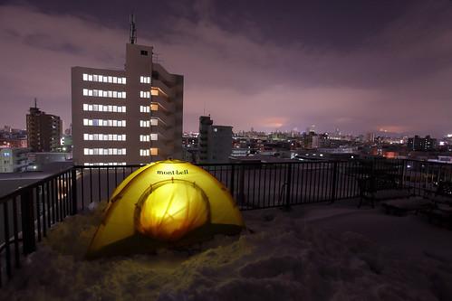 自宅で冬キャンプ(夜編)