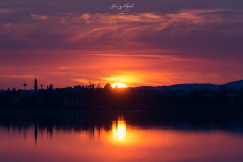 landscape landscapephotography reflection saltlake sunset coloreruption purple sun