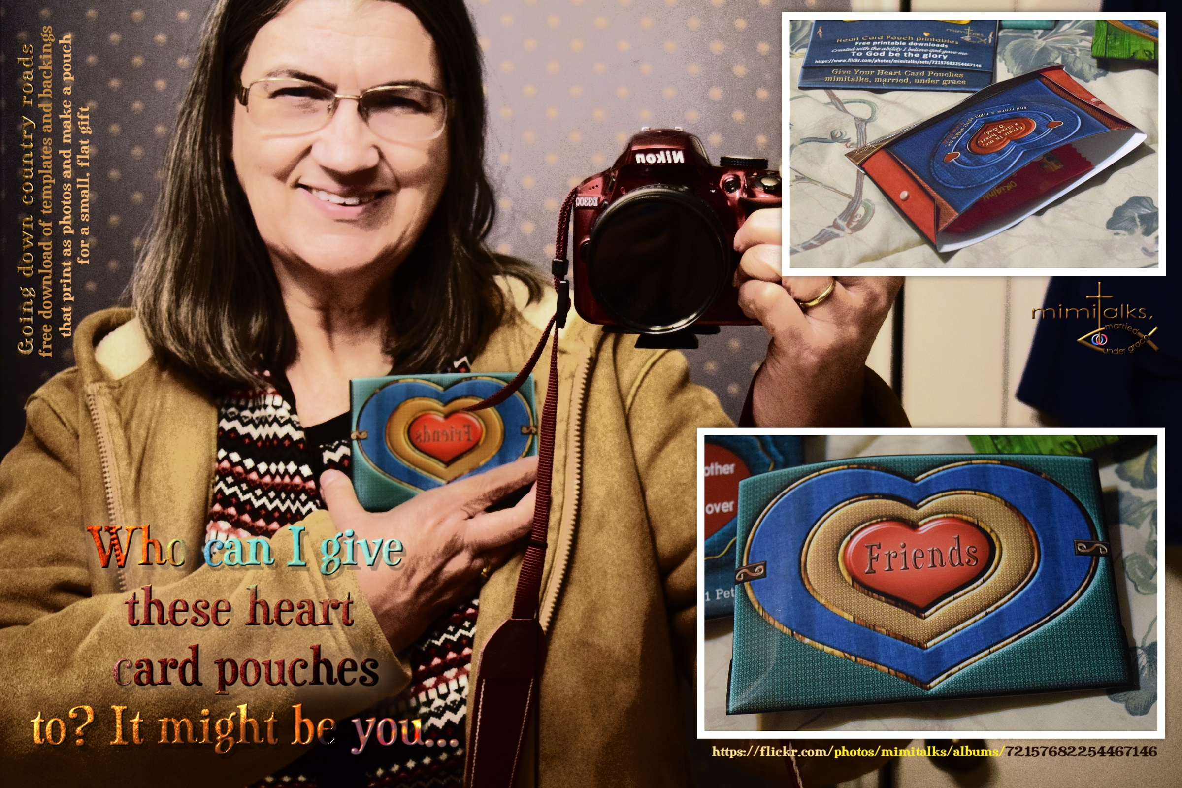 Who will come get them? Give your heart card pouches to make and give