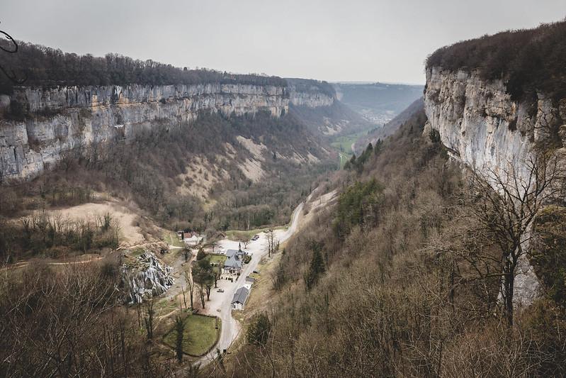 Belvédère des Roches - Au dessus des cascades des tufs - Baume les Messieurs - Jura - France - février 2018