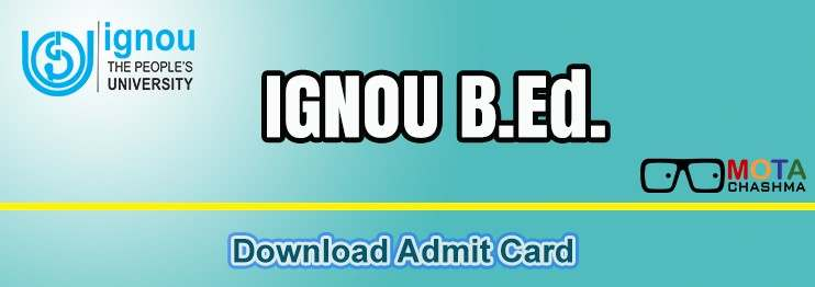 ignou bed admit card