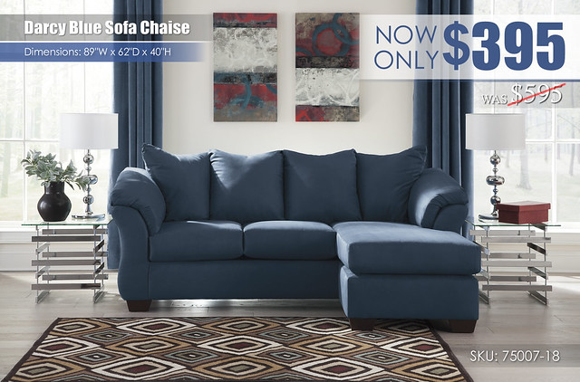Darcy Blue Sofa Chaise_75007-18-SET